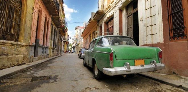 Vintage car on a Cuban street